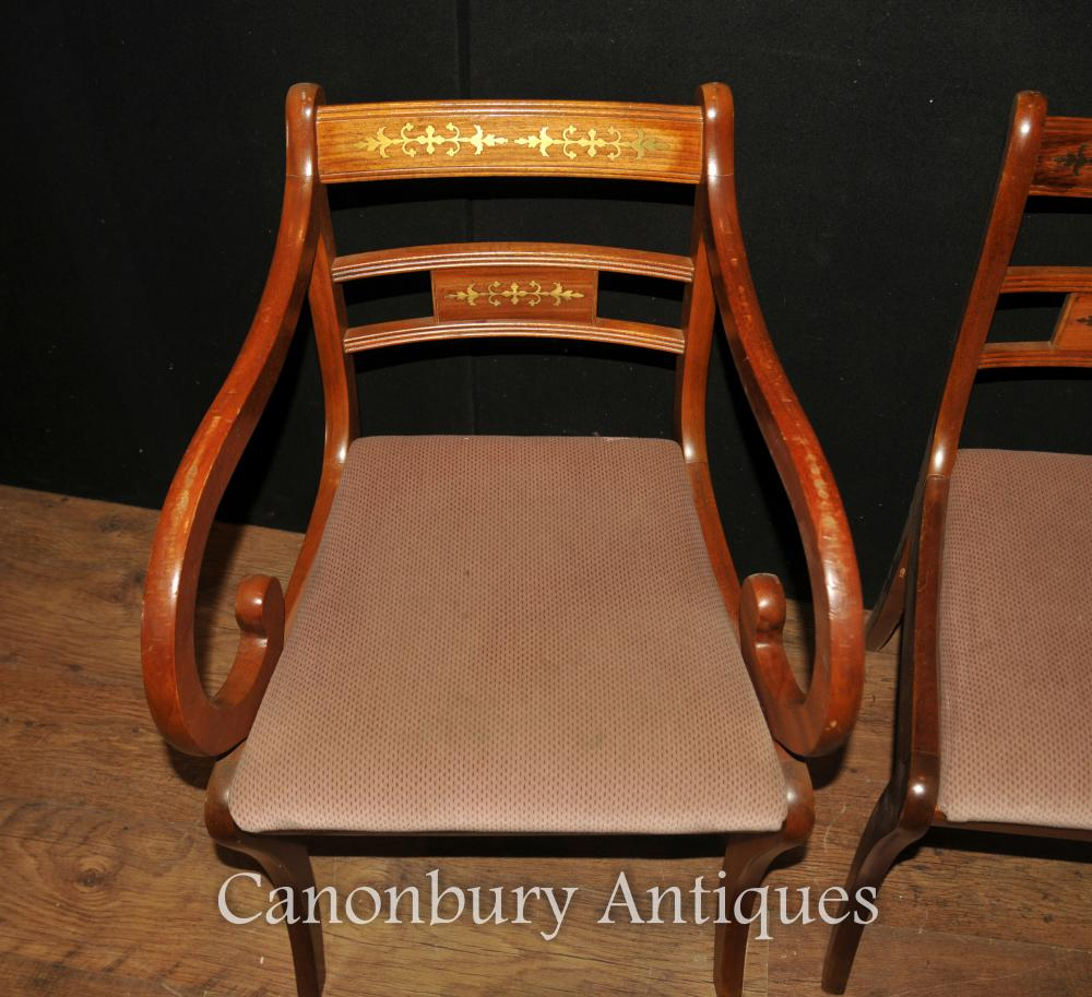 Antique regency dining chairs - Additional Images