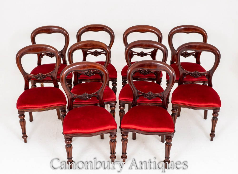 Dining Chairs Balloon Back Antique
