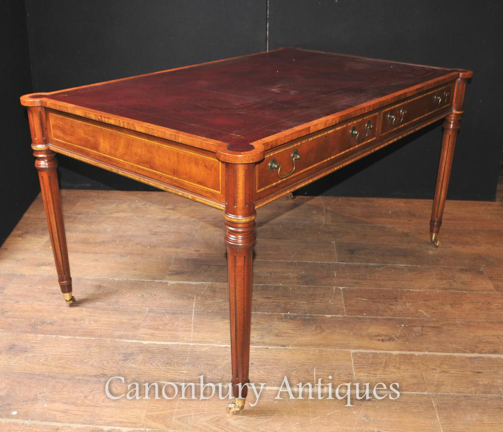 Ashley Furniture Layaway Program: Sheraton Desk In Walnut Writing Table English Furniture