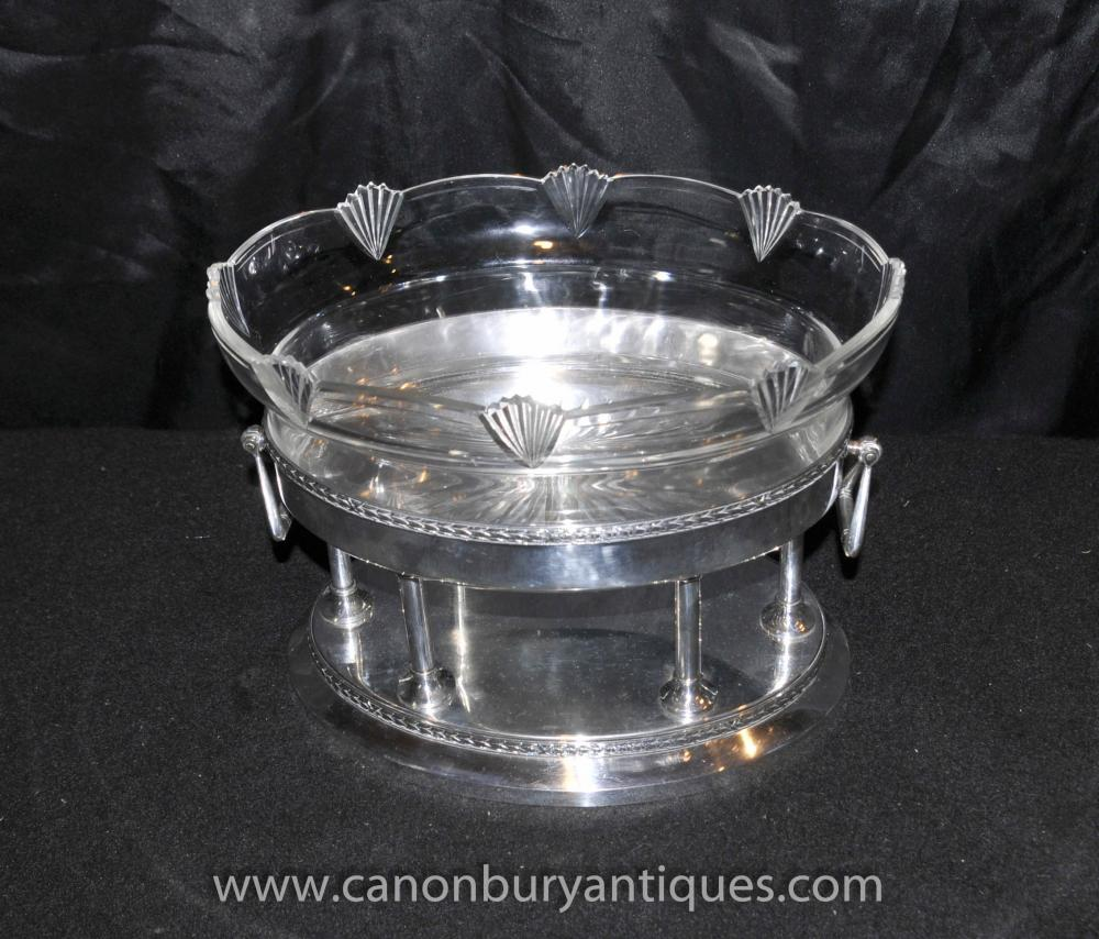 silver plate german art deco glass stand tray tureen 1930s wmf. Black Bedroom Furniture Sets. Home Design Ideas