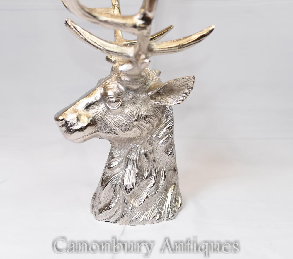 Silver Plate Stag Champagne Bucket Fruit Bowl Wine Cooler