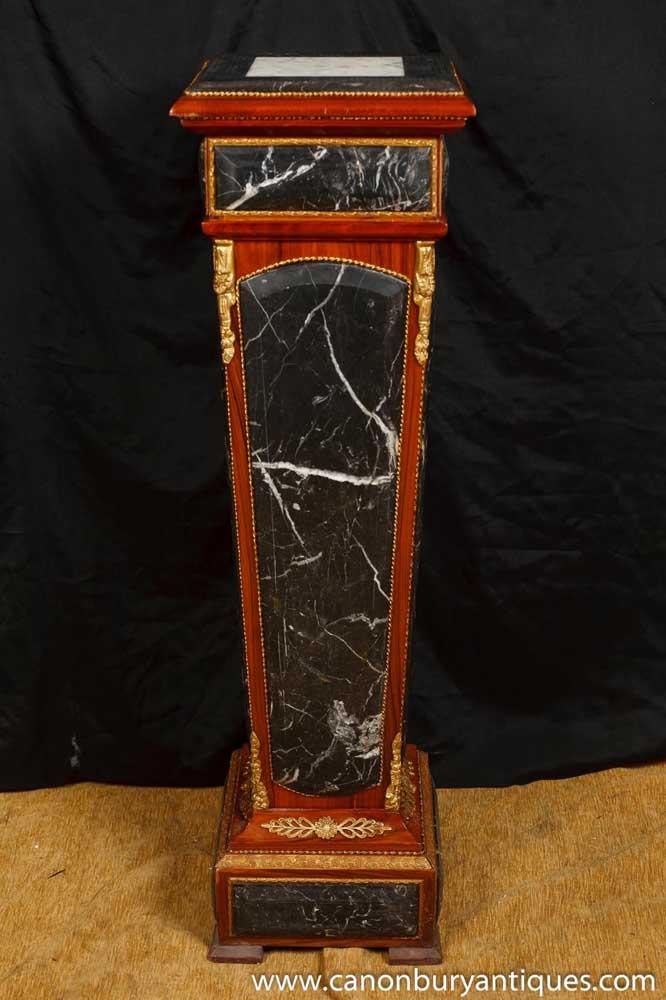 Single Empire Marble Column Pedestal Table Plinth