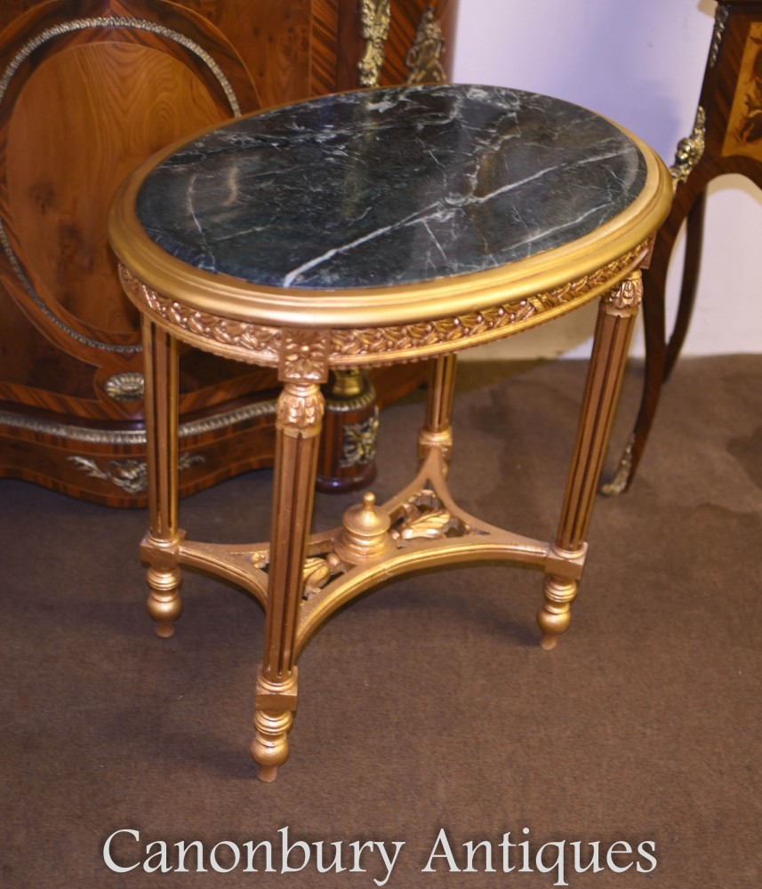 French Oval Coffee Table: Louis XVI Oval Cocktail Tables