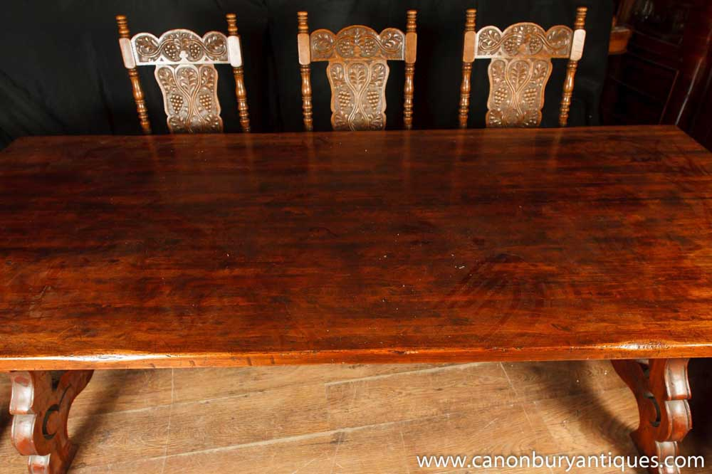 Spanish Refectory Table Oak Kitchen Dining Tables