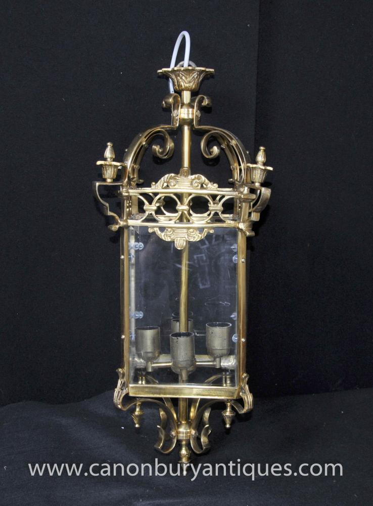 Victorian Brass Lantern Chandelier Sconce Light
