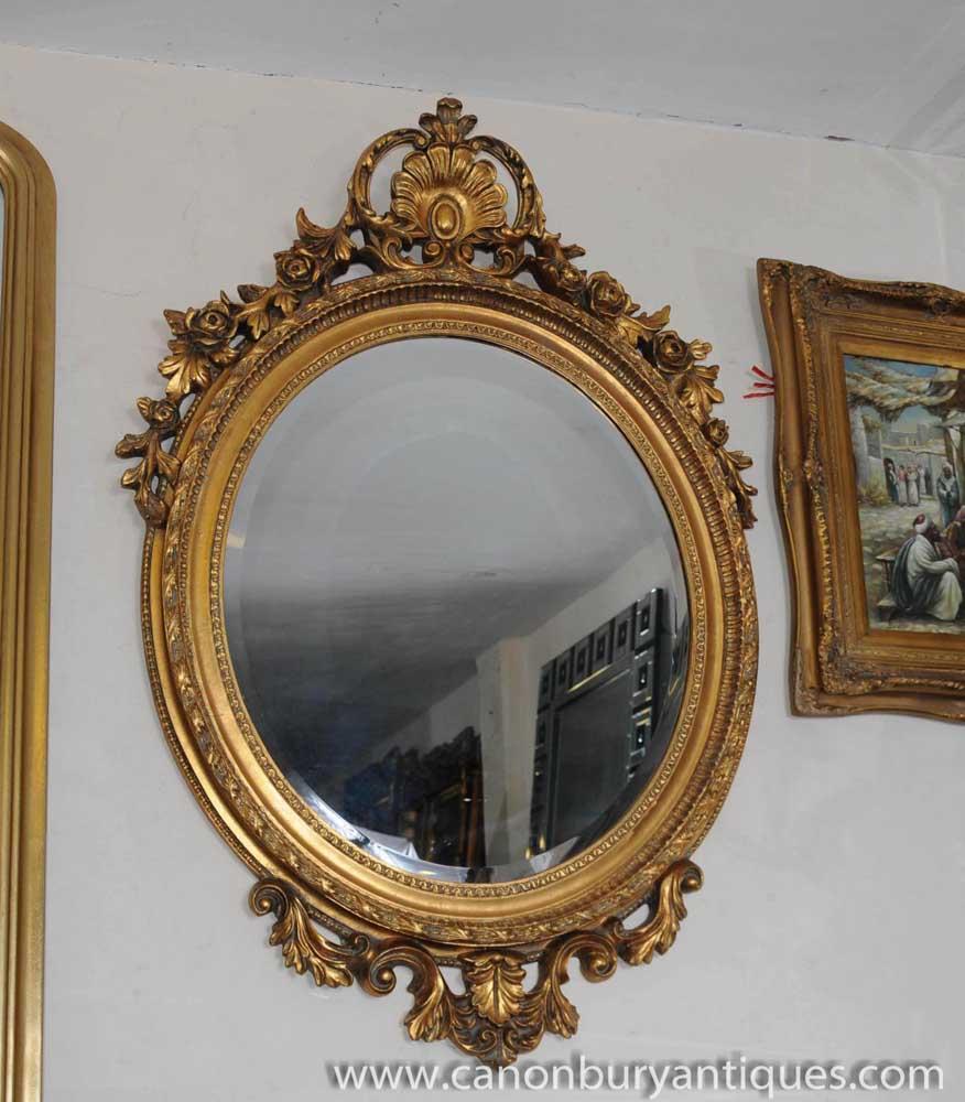 Victorian Rococo Mirror Oval Gilt Pier Parlour Mirrors