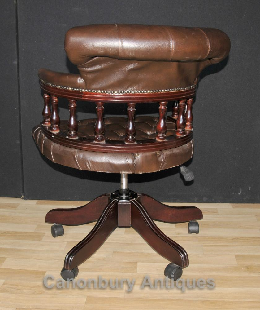 Victorian Captains Chair Office Swivel Desk Chairs With
