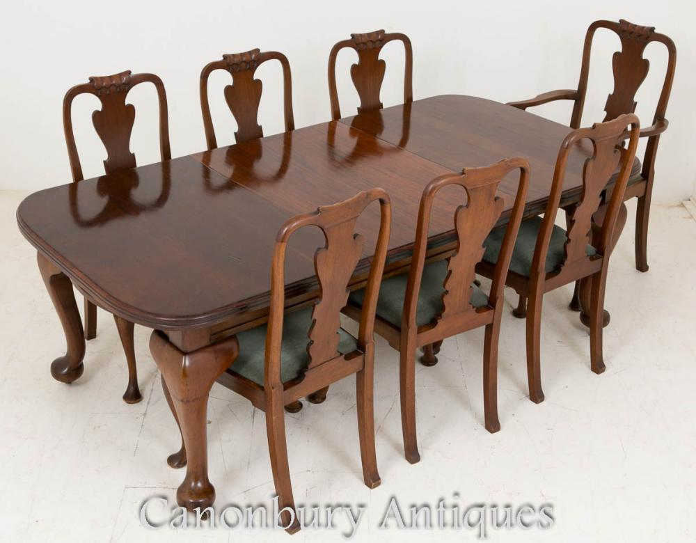 SHIPPING QUOTE - Victorian Dining Set Mahogany Tables And Chairs 1900