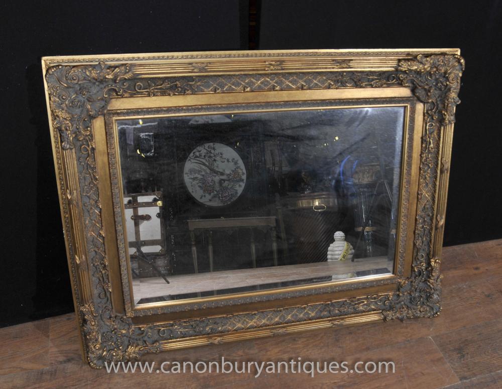 Victorian gilt mantle mirror glass mirrors for Mantle mirror