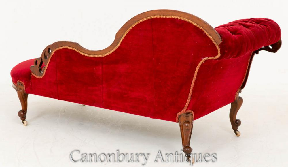 Victorian mahogany chaise longue couch 1860 ebay for Antique chaise longue ebay