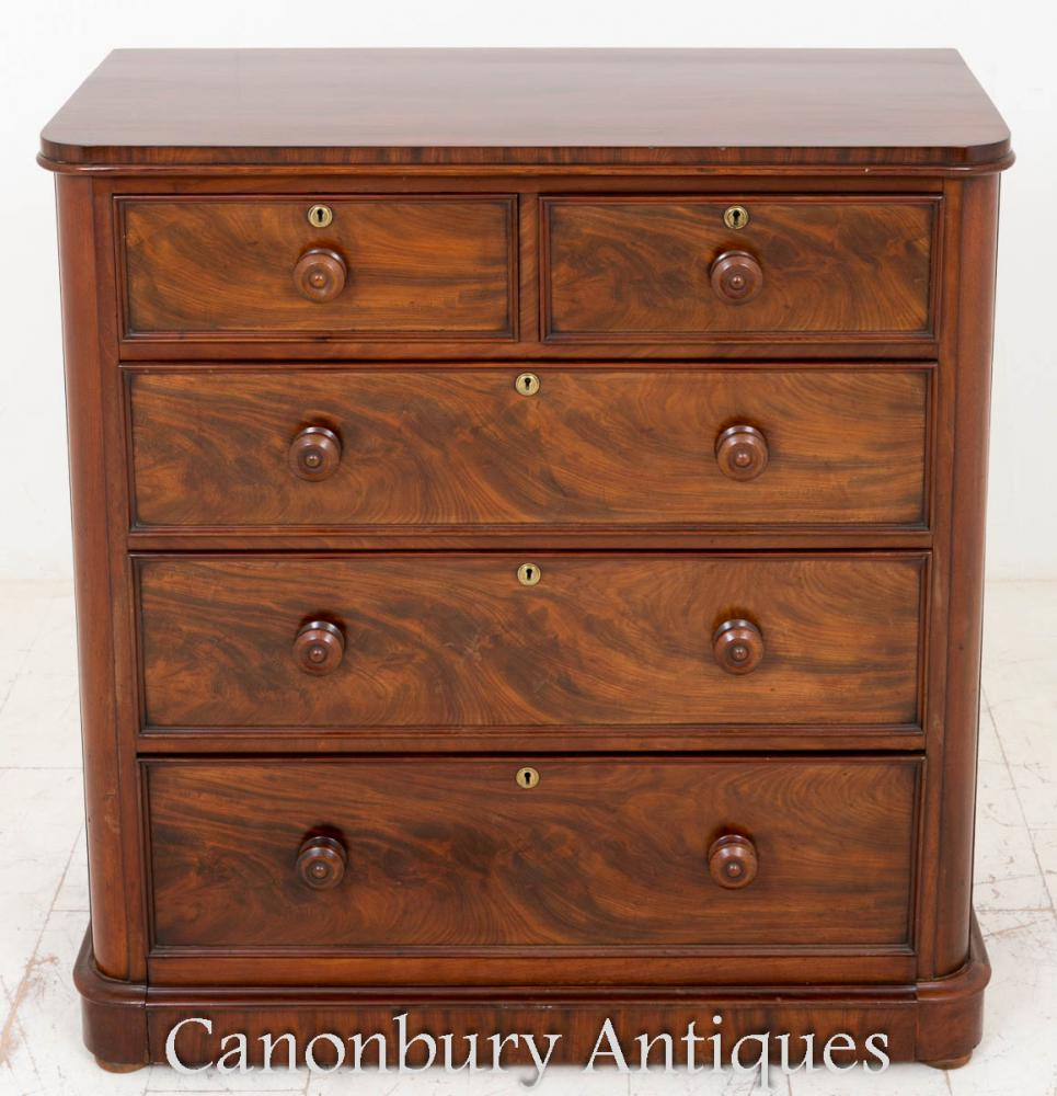 Chest Of Drawers Product ~ Victorian mahogany chest of drawers