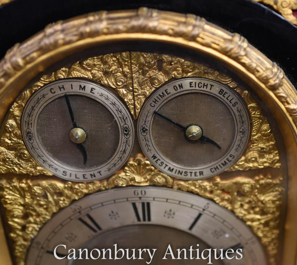 Details about Victorian Mantle Clock Westminster Chimes Carriage Time