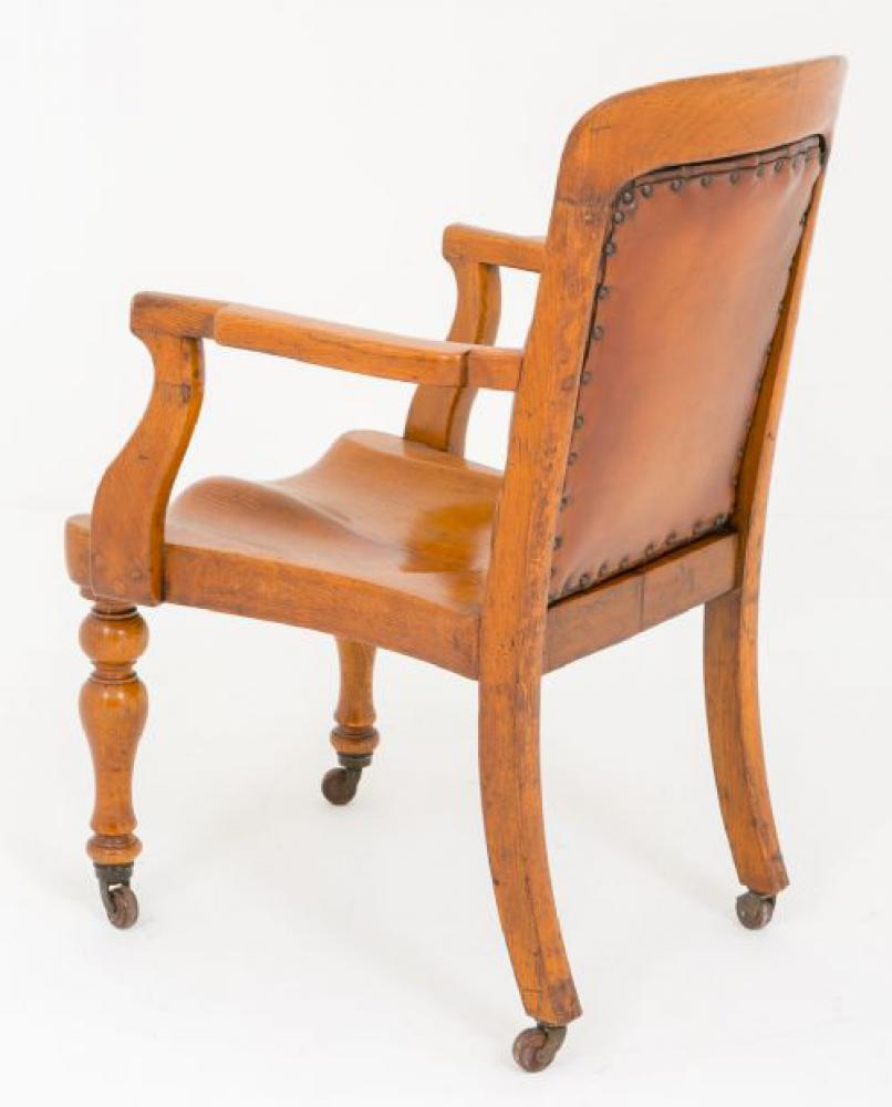 Excellent Victorian Oak Desk Chair Circa 1870 Arm Chairs Ebay Ibusinesslaw Wood Chair Design Ideas Ibusinesslaworg