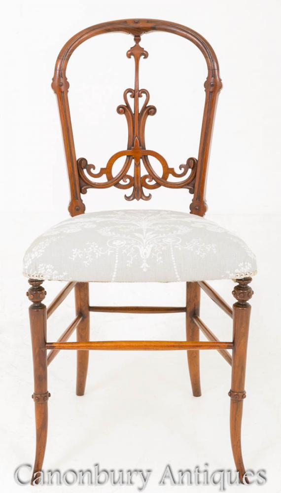Additional Images - Victorian Walnut Chair 1860 Antique Chairs EBay