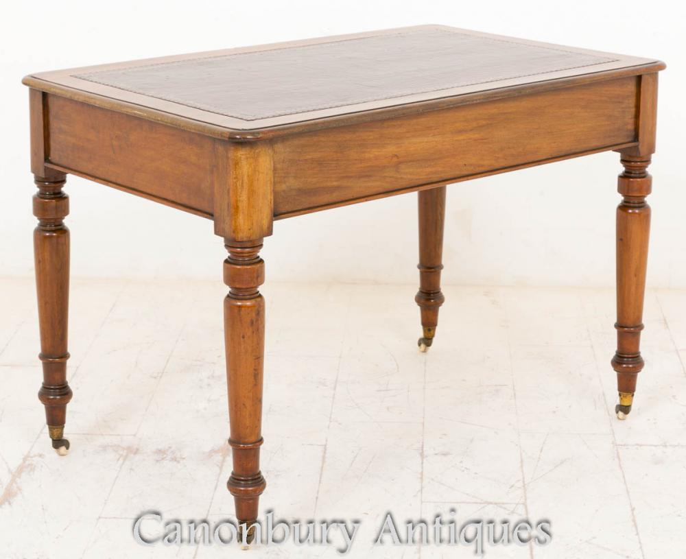 Victorian writing table desk mahogany tables bureau ebay for Table bureau