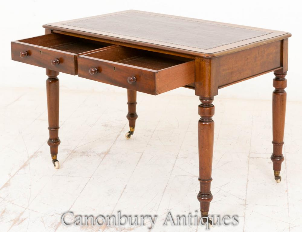 victorian writing table desk mahogany tables bureau. Black Bedroom Furniture Sets. Home Design Ideas