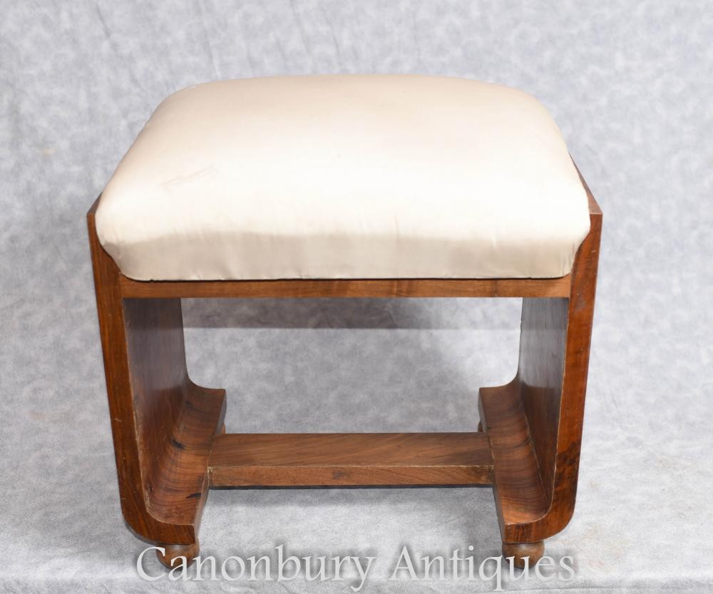 Vintage Art Deco Stool Seat