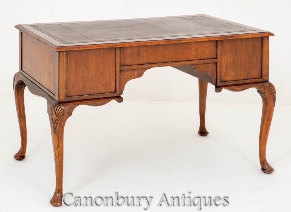 Queen Anne Desk >> Walnut Queen Anne Desk Writing Table Circa 1900 Ebay