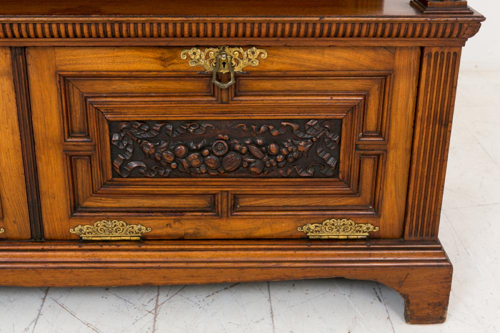 Walnut Victorian Sideboard Buffet Carved Cabinet