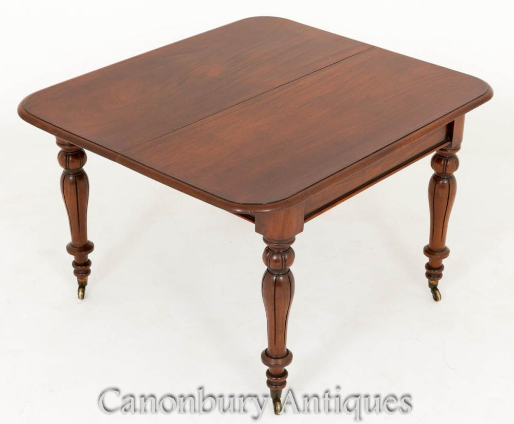 William iv extending dining table mahogany diners for Mahogany dining table