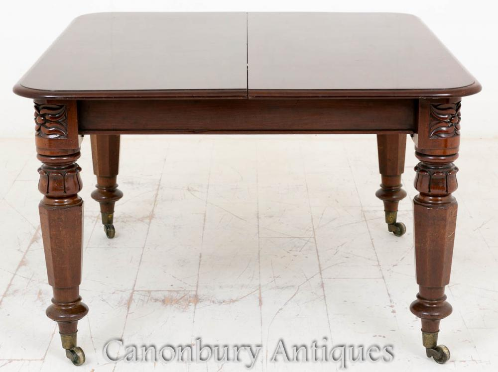 William iv mahogany dining table extending for Mahogany dining table