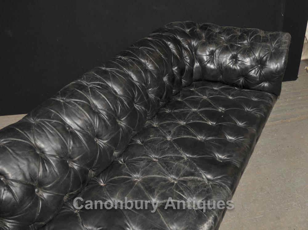 Xl Antique Chesterfield Sofa Couch Deep Button Leather