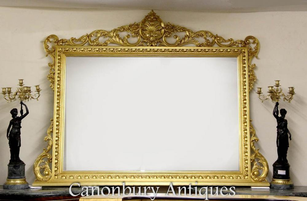 Xl Regency Gilt Mantle Mirror 6 Feet Wide 2 Metres Glass
