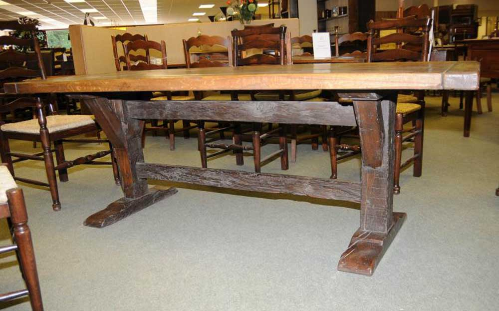 Abbey Country Oak Trestle Dining Table Refectory