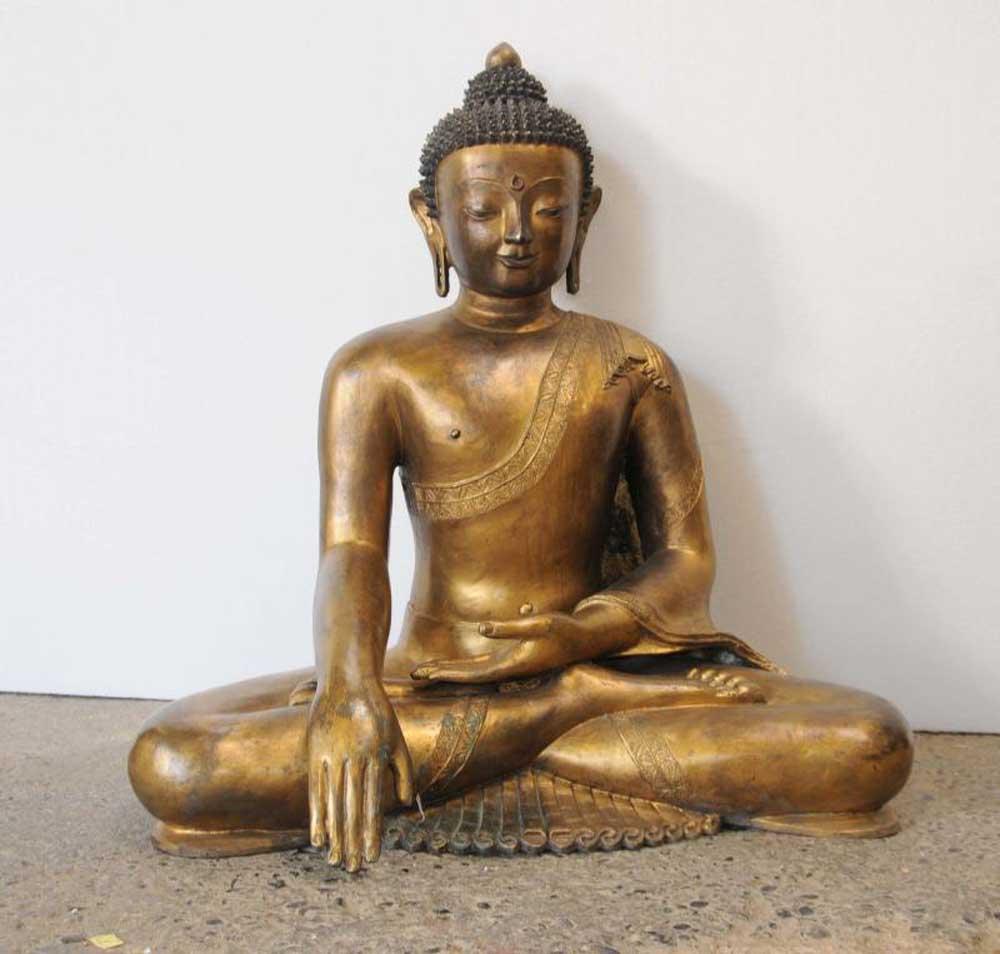Joe For Oil >> Antique Burmese Buddha Statue Bronze Buddhist