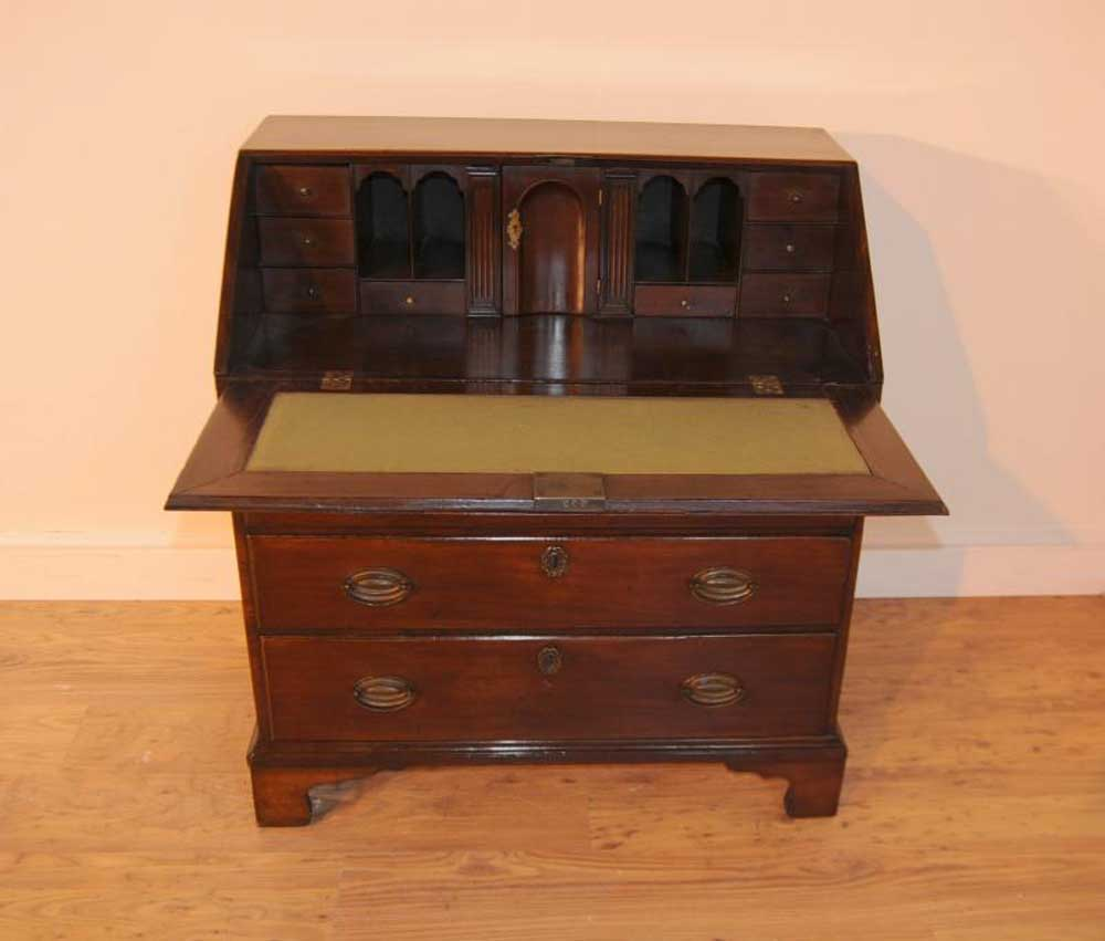 Antique Victorian Bureau Desk Chest Drawers