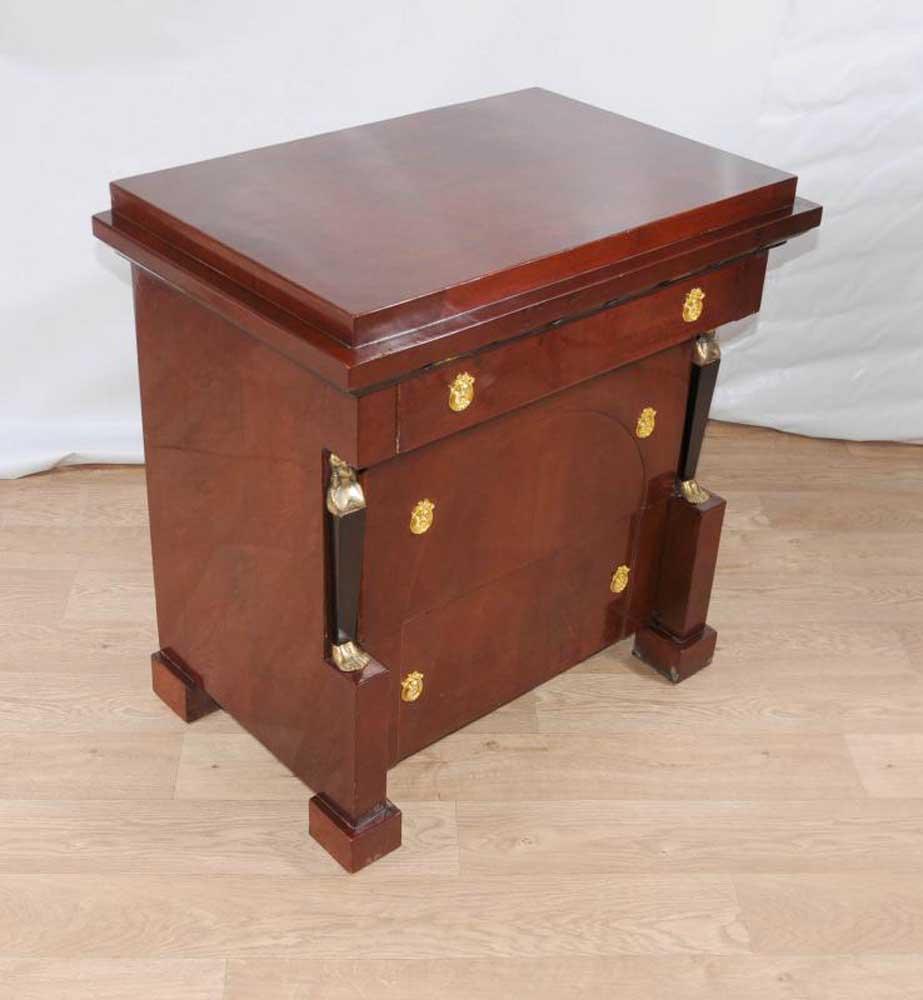 Art deco biedermeier chest drawers commode chests empire pharo for Commode miroir art deco