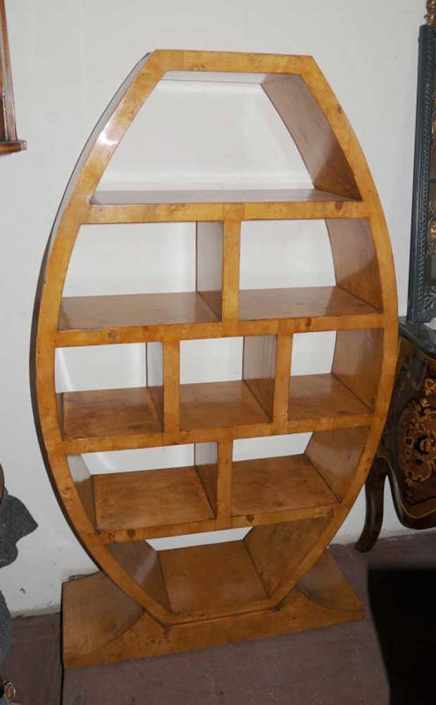 About Art Deco Bookcase Shelf Unit Vintage Furniture Interior Design
