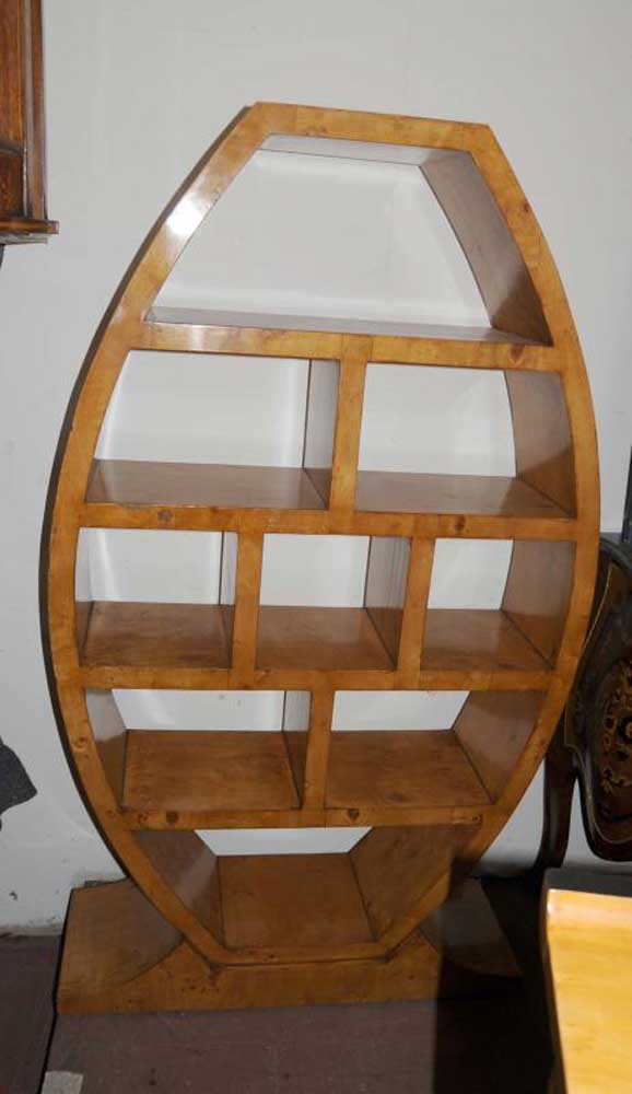 art deco bookcase shelf unit vintage furniture interior design. Black Bedroom Furniture Sets. Home Design Ideas