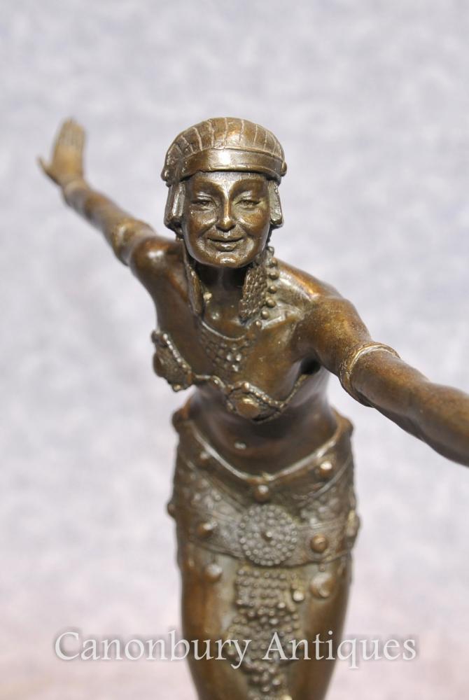 Art Deco Bronze Statue by Chiparus Flapper 1920s Dancer