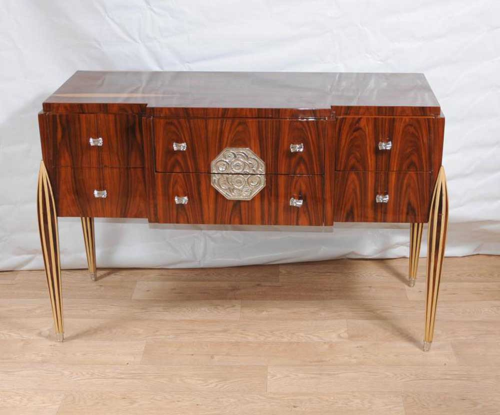 art deco chest drawers sideboard buffet server dining. Black Bedroom Furniture Sets. Home Design Ideas