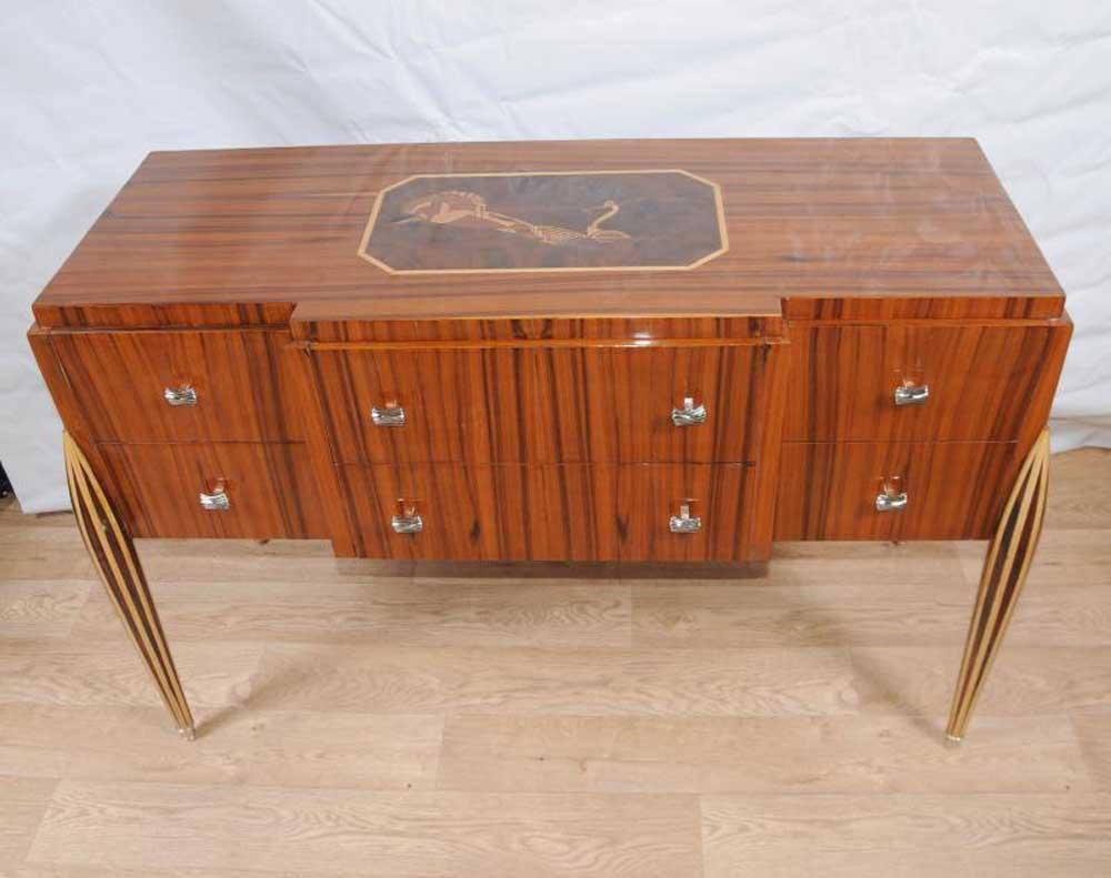art deco chest drawers sideboard buffet server dining furniture. Black Bedroom Furniture Sets. Home Design Ideas
