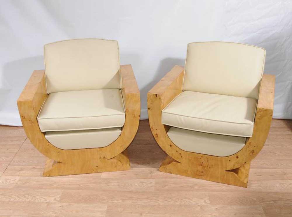 Art Deco Club Chairs Arm Chairs Armchair Furniture