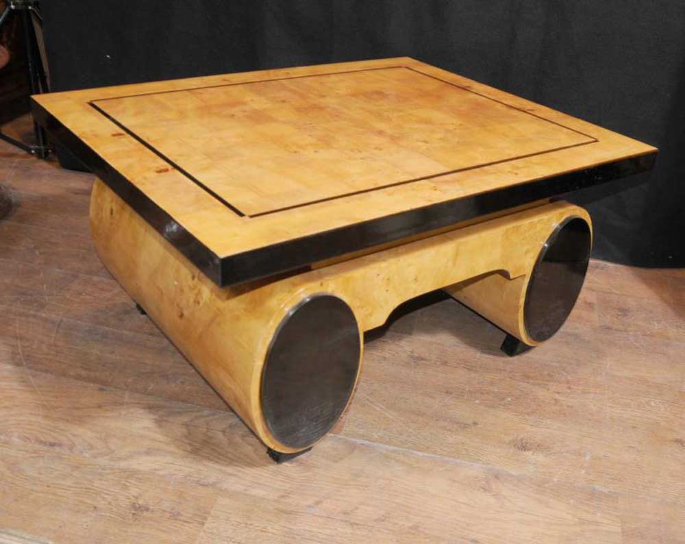 Art Deco Coffee Table Blonde Walnut 1920s Furniture