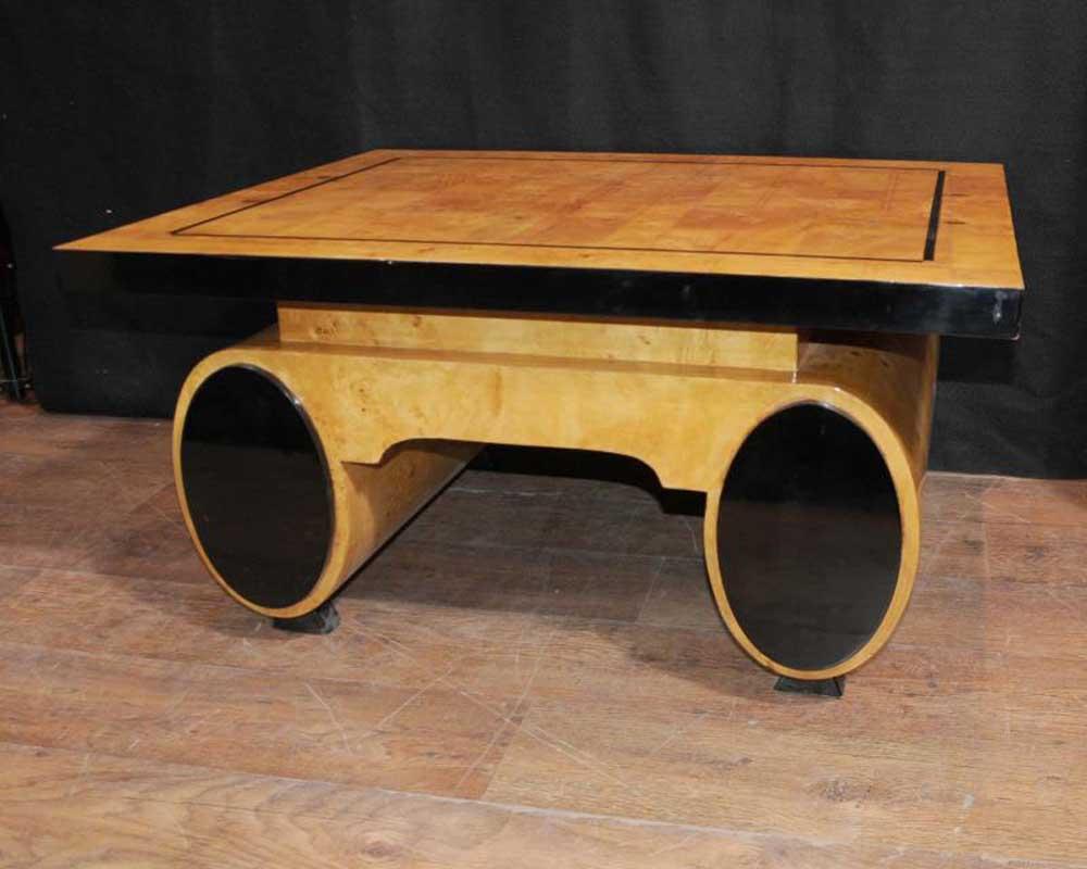 art deco coffee table blonde walnut 1920s furniture vintage. Black Bedroom Furniture Sets. Home Design Ideas