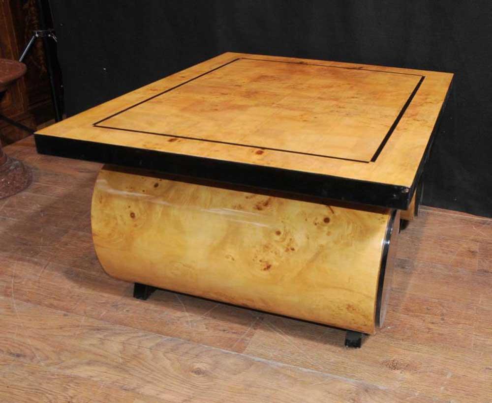 Art deco coffee table blonde walnut 1920s furniture vintage for Art deco coffee table
