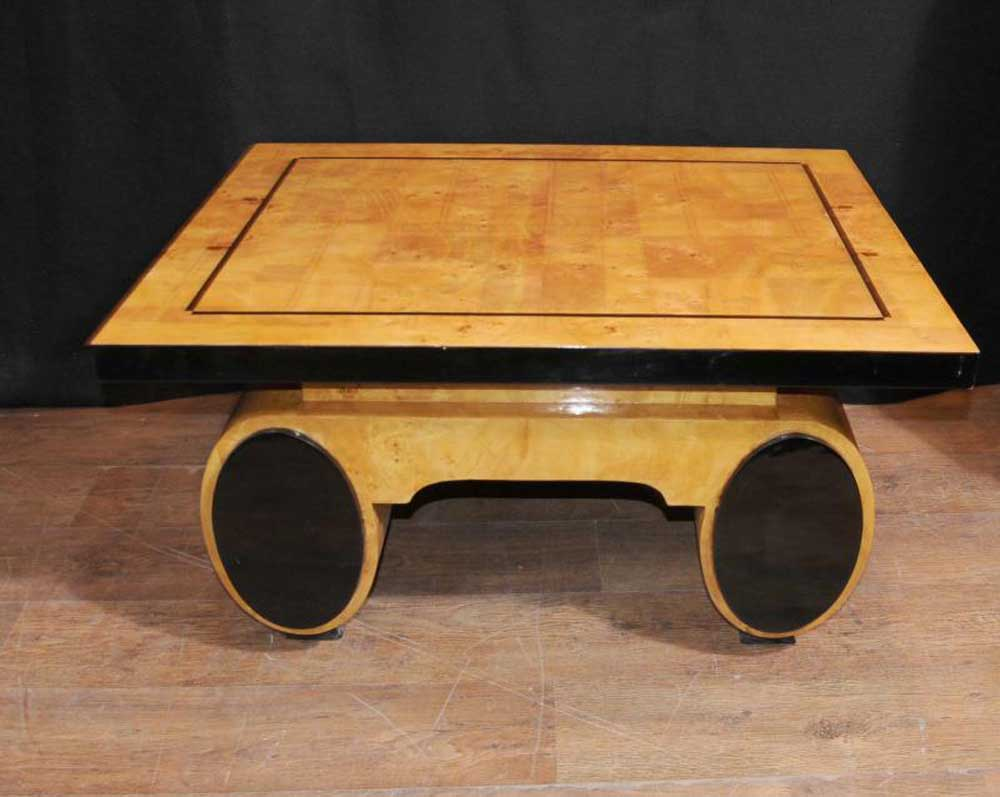 art deco coffee table blonde walnut 1920s furniture vintage