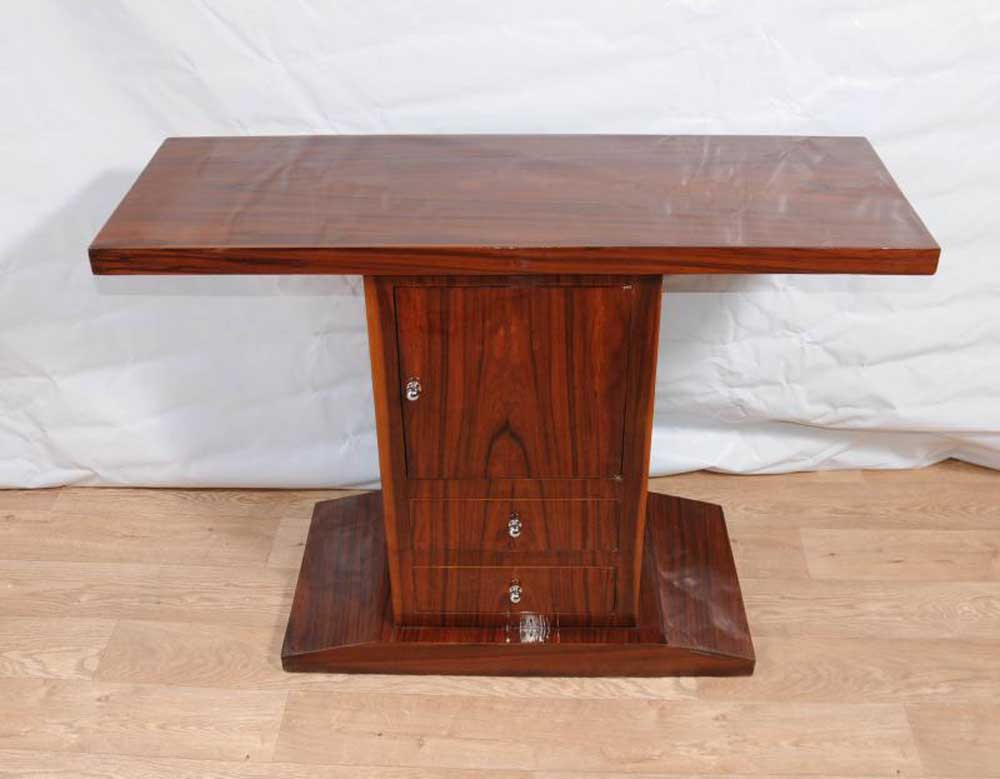 Art deco console table cabinet chest hall tables 1920s furniture - Sofa table with cabinets ...