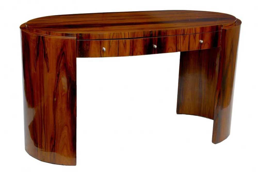 art deco desk rosewood writing table bureau office furniture. Black Bedroom Furniture Sets. Home Design Ideas