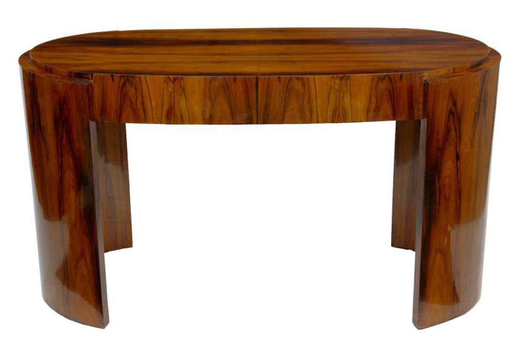 Art deco desk rosewood writing table bureau office furniture