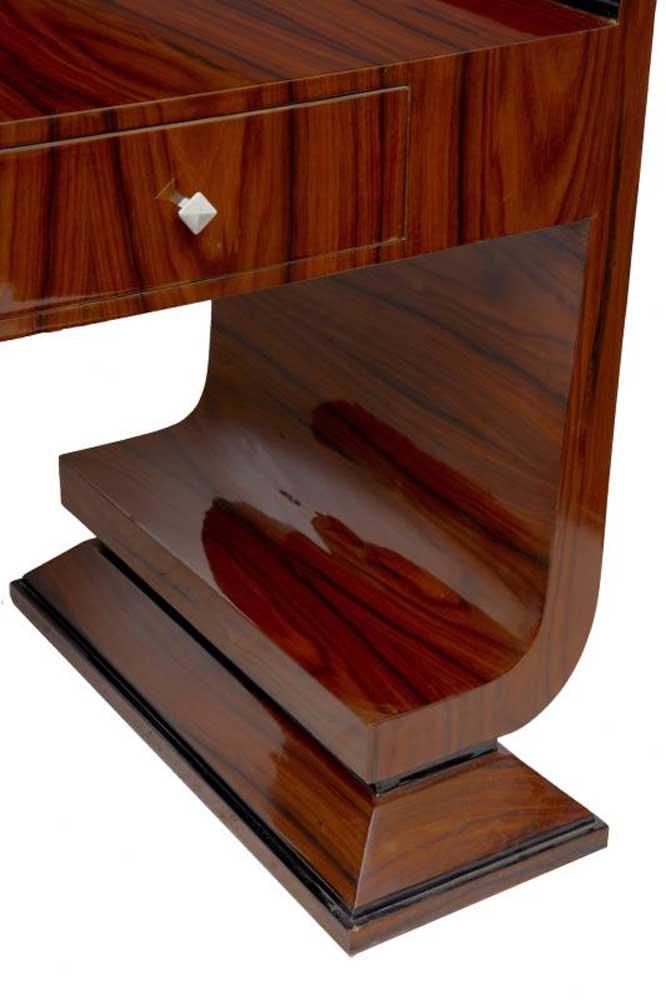 Art Deco Desk Vintage Writing Dressing Console Table