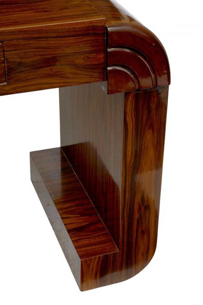 Art deco desk writing table bureau plat desks for Art deco writing