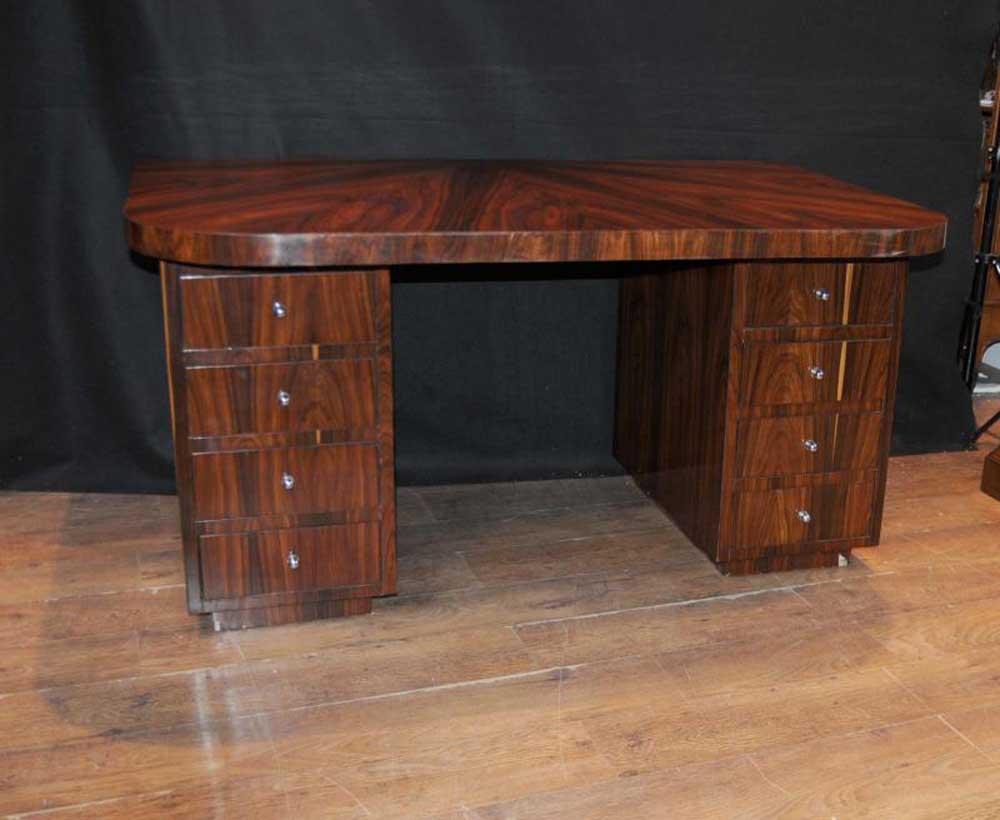 Art Deco Desk Writing Table Bureau Rosewood Vintage Furniture