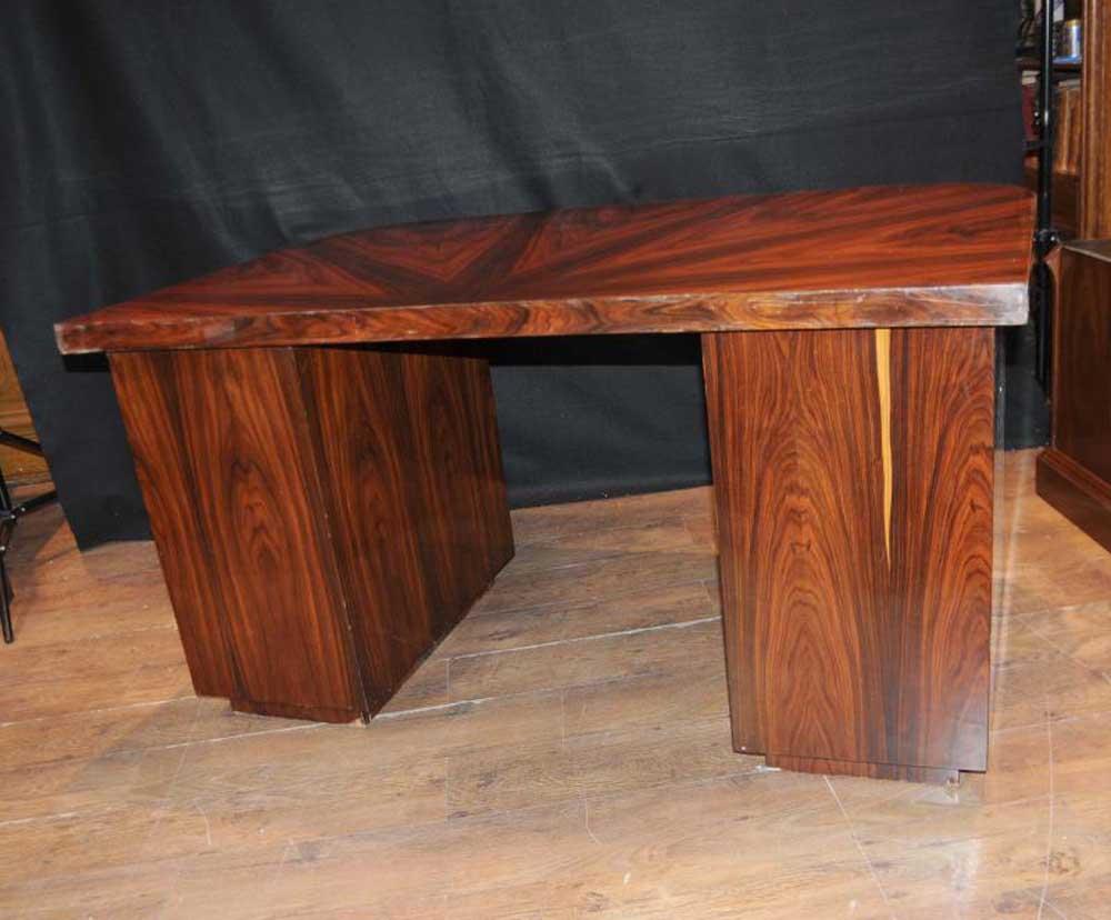 art deco desk writing table bureau rosewood vintage furniture. Black Bedroom Furniture Sets. Home Design Ideas