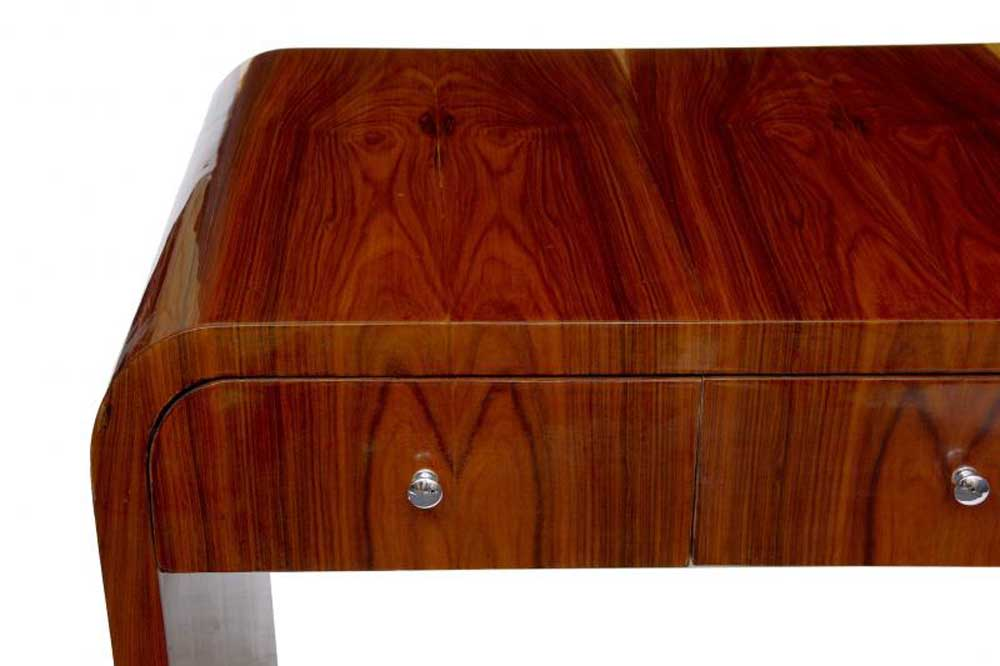 Art Deco Desk Writing Table Bureau Vintage Furniture