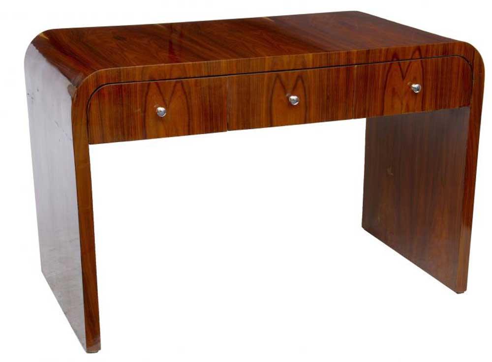 art deco desk writing table bureau vintage furniture. Black Bedroom Furniture Sets. Home Design Ideas